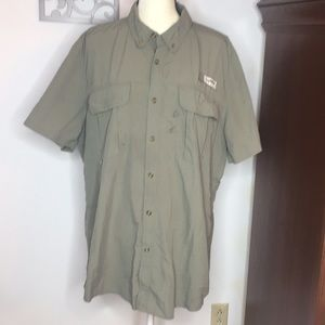 Magellan Outdoors Fish Gear Button Down XL Olive